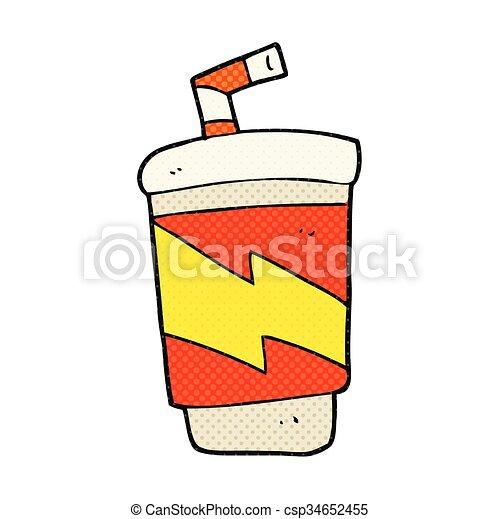 cartoon soda drink - csp34652455