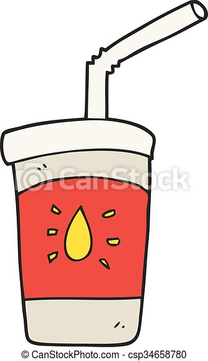 cartoon soda drink - csp34658780