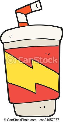 cartoon soda drink - csp34657077