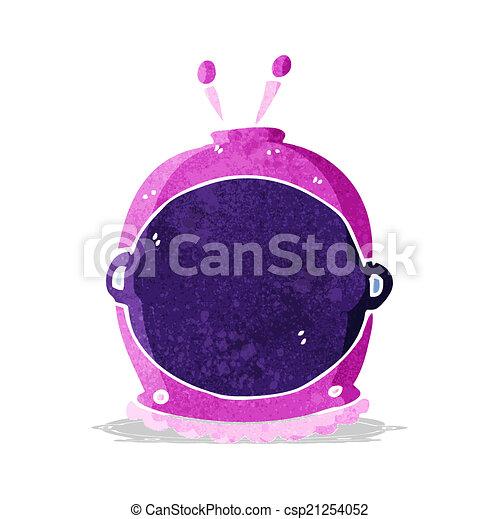 cartoon space helmet - csp21254052