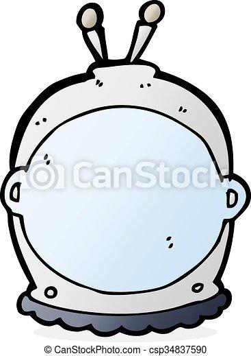 cartoon space helmet - csp34837590