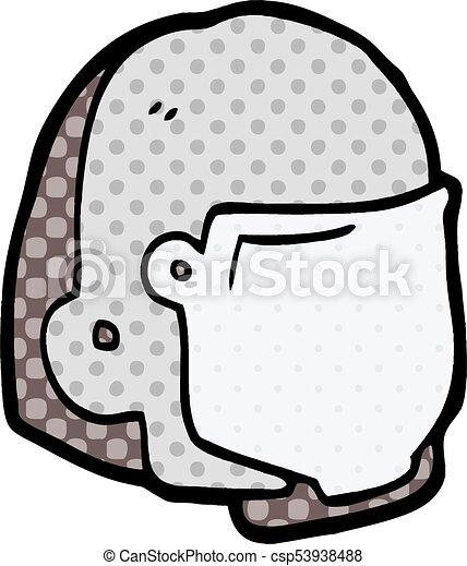 cartoon space helmet - csp53938488