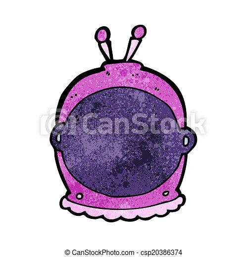 cartoon space helmet - csp20386374