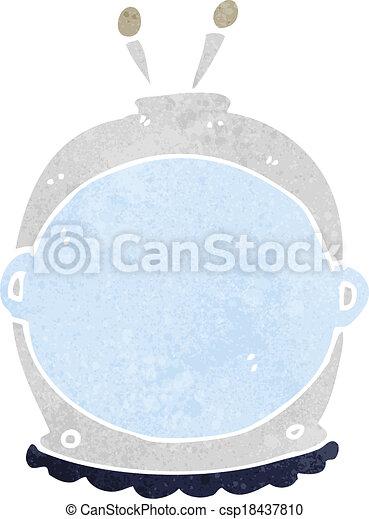 cartoon space helmet - csp18437810