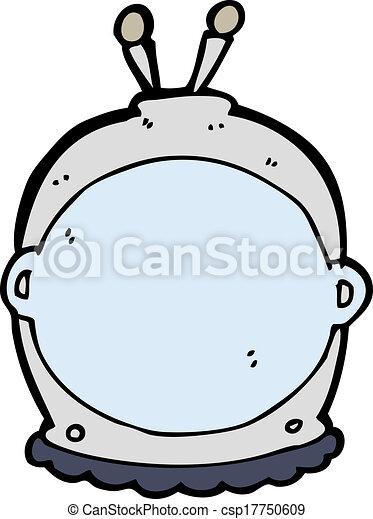 cartoon space helmet - csp17750609