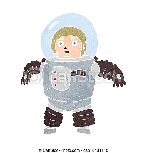 cartoon space man - csp18431118