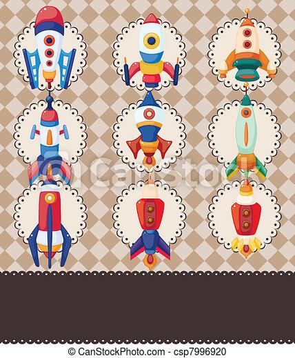 cartoon spaceship card - csp7996920