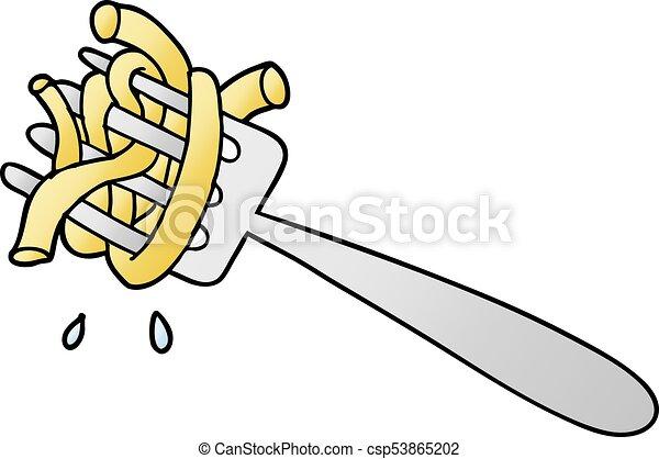 cartoon spaghetti on fork vector clipart search
