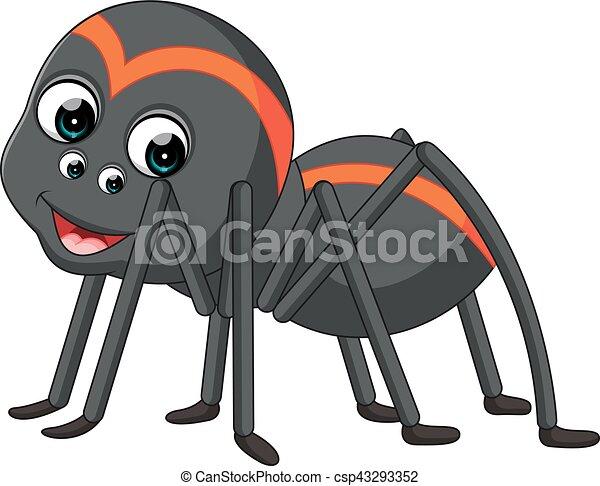 cartoon spider tarantula illustration of spider tarantula rh canstockphoto com tarantula spider clipart red knee tarantula clipart