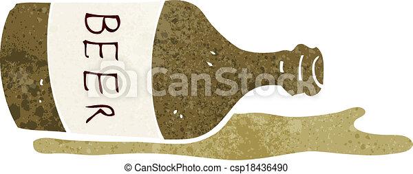 cartoon spilled beer - csp18436490