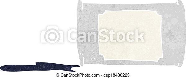 cartoon spilled oil - csp18430223