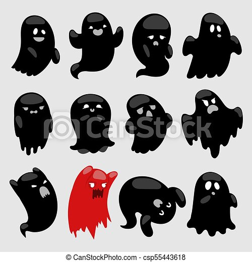 Cartoon spooky ghost vector character illsutartion black and red cartoon spooky ghost vector character illsutartion black and red spooky scary halloween holiday publicscrutiny Images