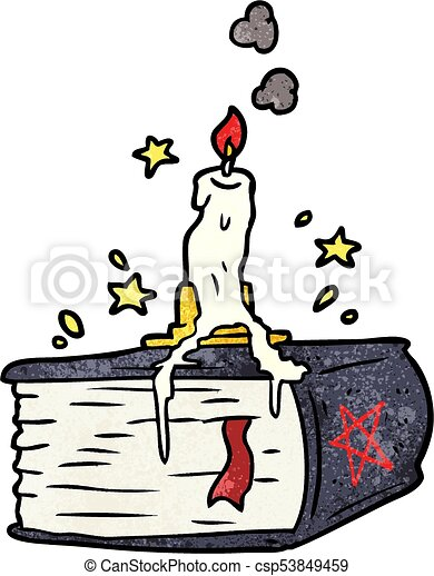 cartoon spooky spellbook with dribbling candle clipart vector rh canstockphoto com Skeleton Clip Art Spooky Ghost Clip Art