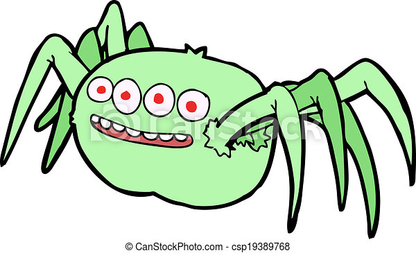 cartoon spooky spider clip art vector search drawings and graphics rh canstockphoto co uk spooky clip art free spooky halloween clipart