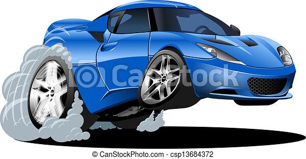 Cartoon sport car - csp13684372