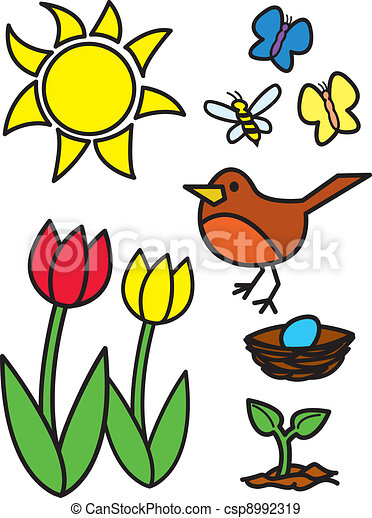 cartoon springtime items and animal things commonly eps vectors rh canstockphoto com convert eps to vector graphics eps vector graphics files free download
