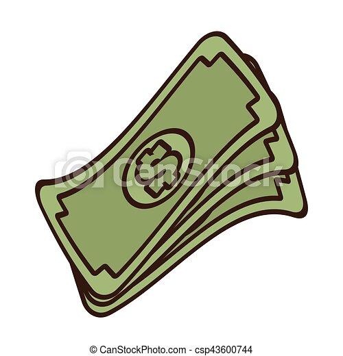 cartoon stack money dollar bills cash vector illustration eps rh canstockphoto com