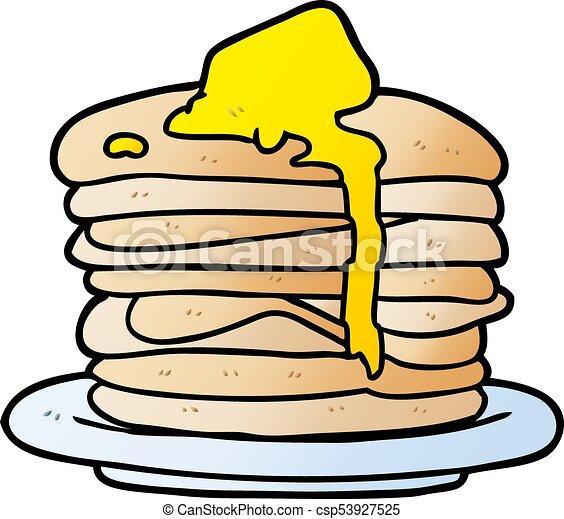 cartoon stack of pancakes - csp53927525