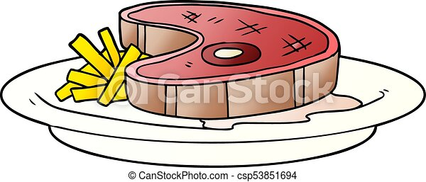cartoon steak dinner rh canstockphoto com  free clipart steak dinner