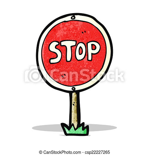 cartoon stop sign rh canstockphoto com stop sign cartoon clip art animated stop sign cartoon