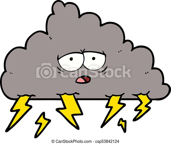 cartoon storm cloud vector illustration search clipart drawings rh canstockphoto com storm cloud with lightning clipart