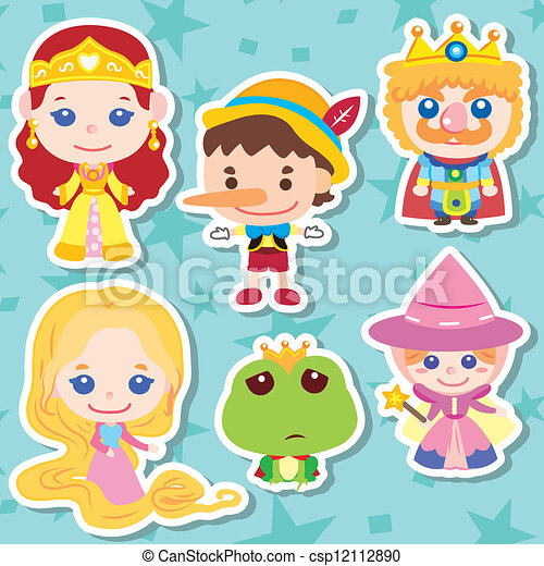 Cartoon story people icons - csp12112890