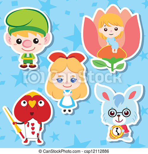 Cartoon story people icons - csp12112886