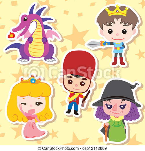 Cartoon story people icons - csp12112889