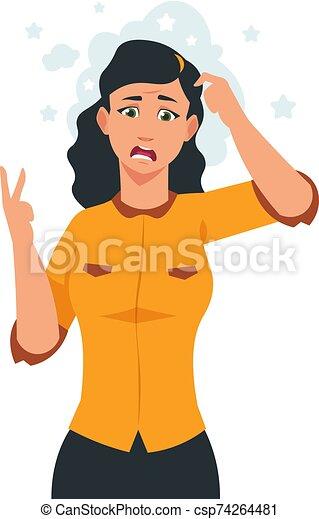 Frustrated Woman Cartoon