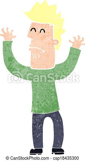 cartoon stresssed man - csp18435300