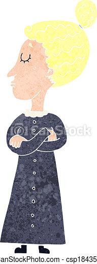cartoon strict victorian teacher - csp18435781