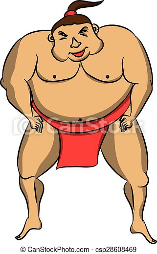 cartoon sumo wrestler clip art vector search drawings and rh canstockphoto com