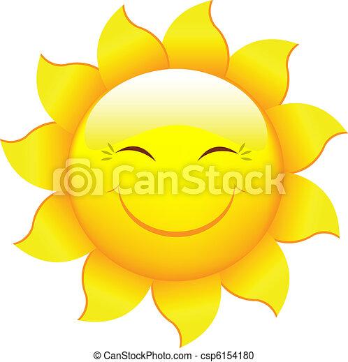 Cartoon Sun - csp6154180