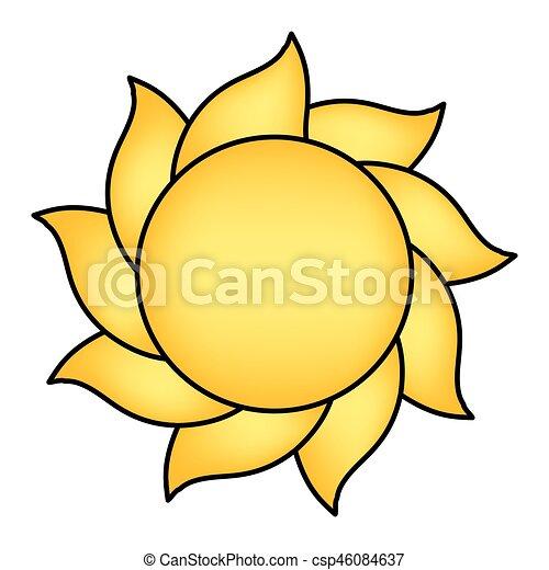 cartoon sun vector symbol icon design beautiful vectors search rh canstockphoto com Sun Rays Cartoon Cartoon Clouds Vector