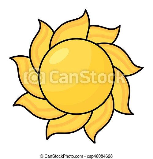 cartoon sun vector symbol icon design beautiful vector rh canstockphoto com Black and White Cartoon Sun cartoon sun clipart free vector