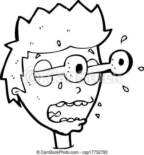 Cartoon Surprised Man With Eyes Popping Out