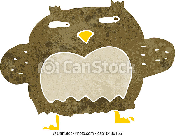 cartoon suspicious owl - csp18436155