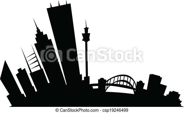Cartoon Sydney - csp19246499