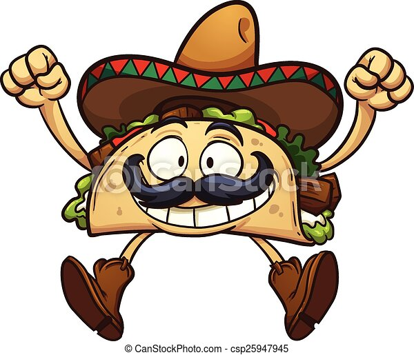 Cartoon taco - csp25947945
