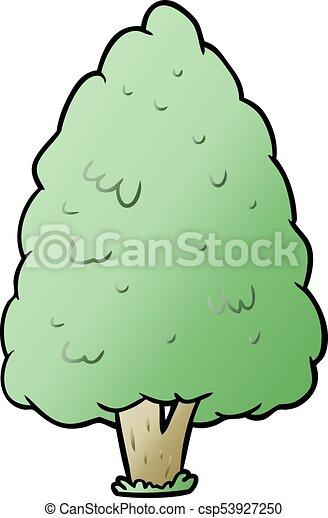 cartoon tall tree - csp53927250