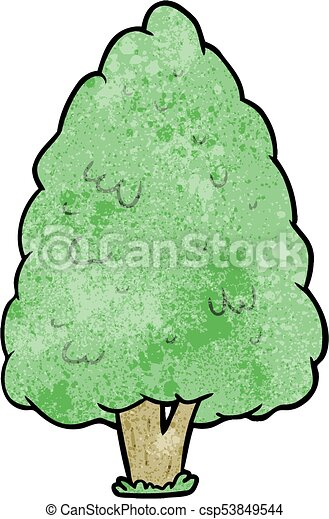 cartoon tall tree - csp53849544