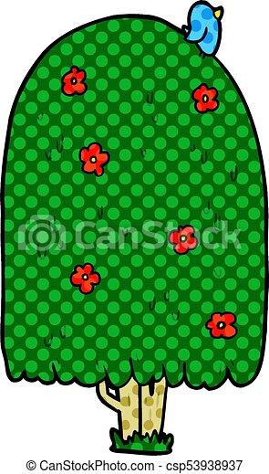 cartoon tall tree - csp53938937