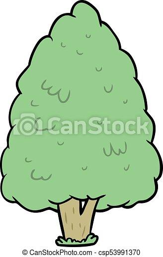 cartoon tall tree - csp53991370