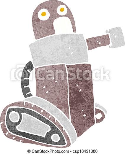 cartoon tank robot - csp18431080