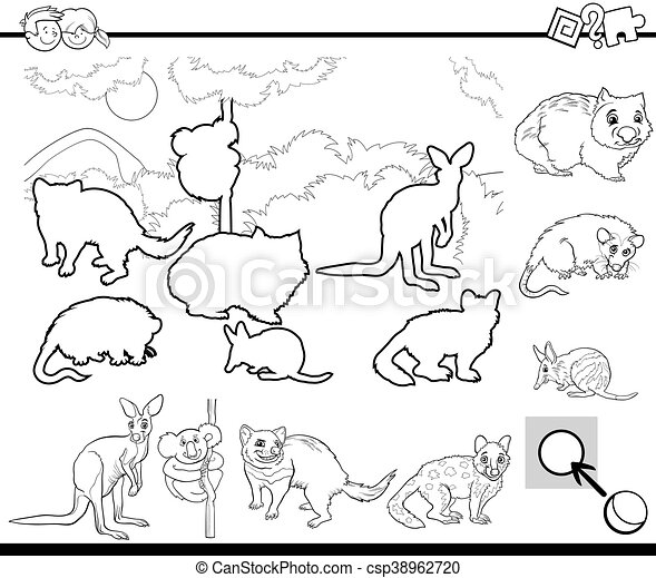 Cartoon Task For Coloring