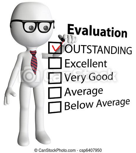 Cartoon teacher manager check evaluation form report - csp6407950