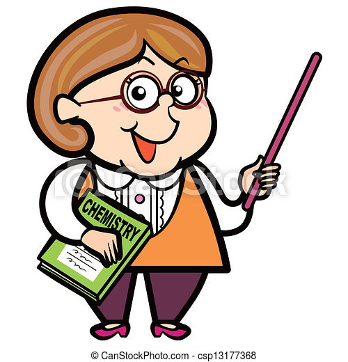 cartoon teacher with a pointer and book clip art vector search rh canstockphoto ie