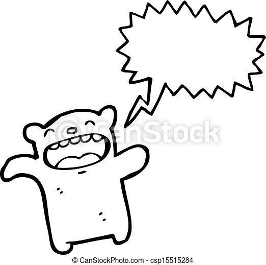 cartoon teddy bear - csp15515284