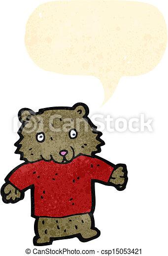 cartoon teddy bear - csp15053421