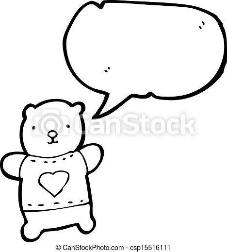 cartoon teddy bear - csp15516111